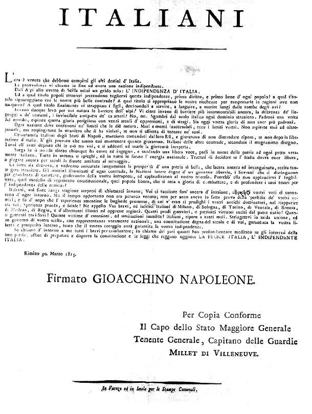 Proclama di Rimini