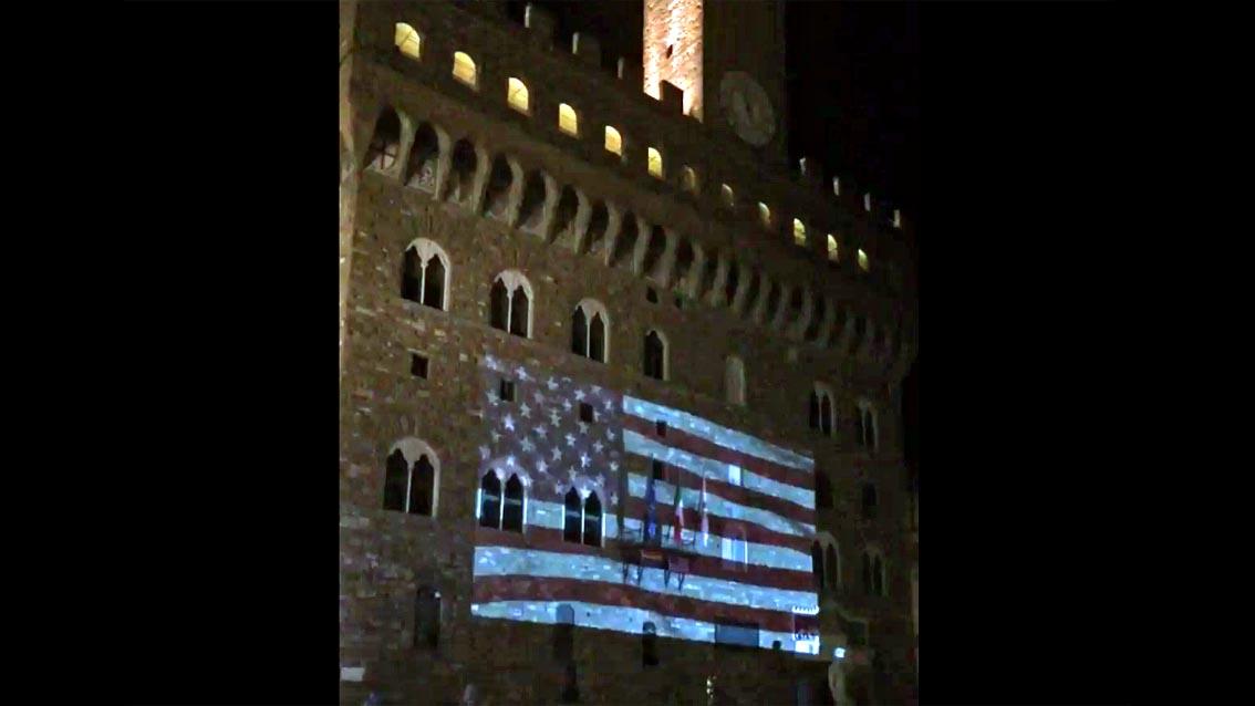 Firenze: Palazzo Vecchio si illumina per Orlando