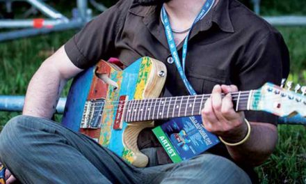 Une guitare venue de la mer