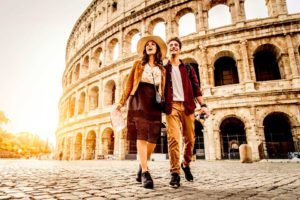 Turisti al Colosseo