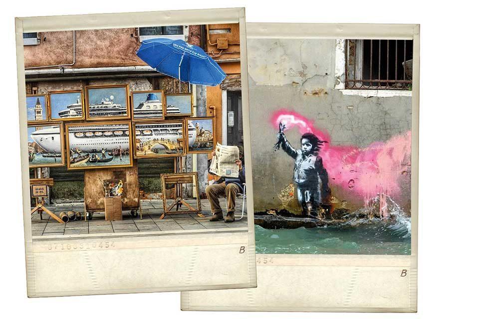 Street-artist Banksy avvistato a Venezia