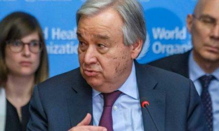 Les paroles de António Guterres, <br>secrétaire général de l'ONU