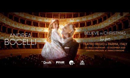 Andrea Bocelli dal vivo per un unico concerto di Natale