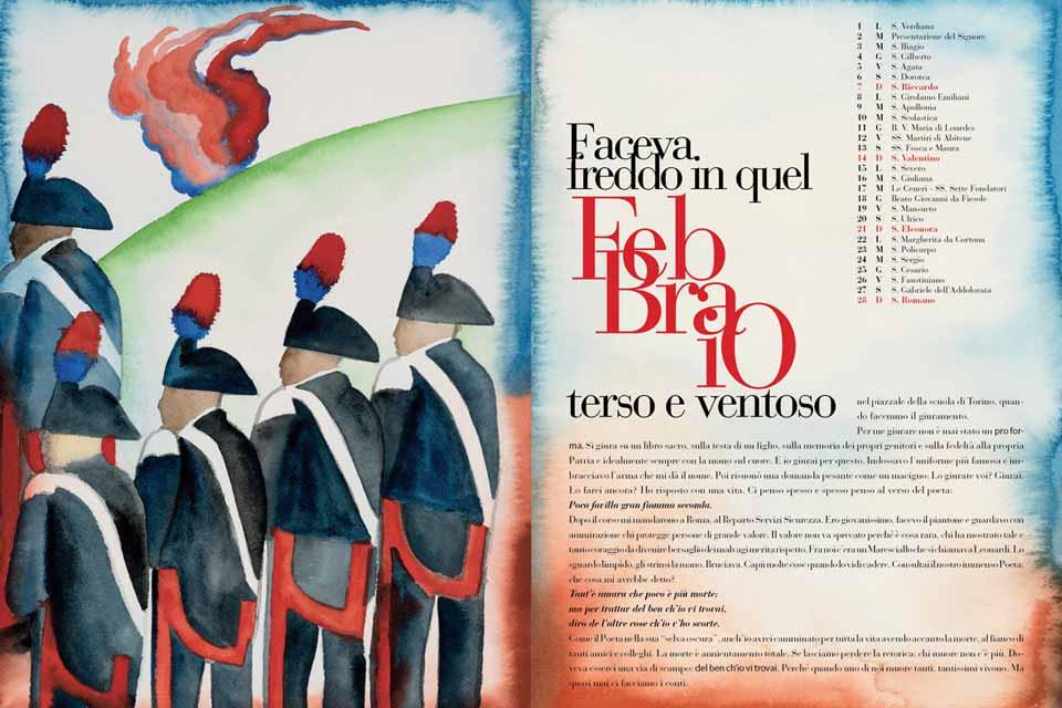 12 mesi di poesia con l'Arma dei Carabinieri