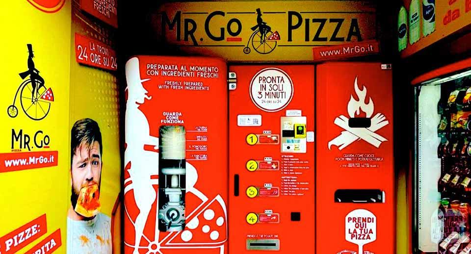 Arriva a Roma Mr. Go, <br>distributore automatico di pizze
